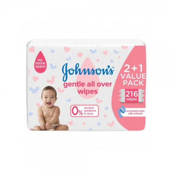 2XBABY WIPES GENTLE+1FREE 526267-V002 by Johnson & Johnson