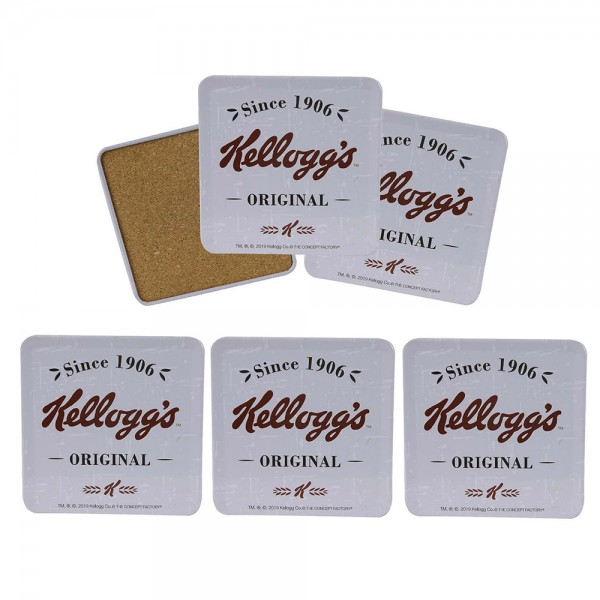 Kellogg's Wooden Coaster Set with Metal Box 7pc 526378-V001 by Kellogg's