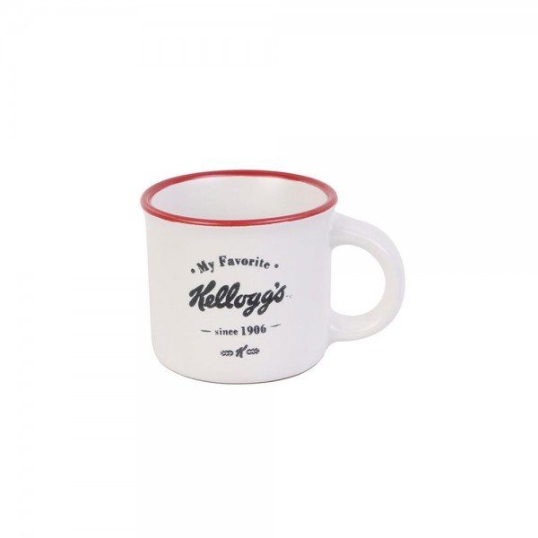 Kellogg's Porcelain Cup Expresso Vintage (Color: red and black, 8cl) 526390-V001 by Kellogg's