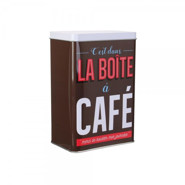 La Boite A Metal Coffee Storage Box (Color: Brown, 18.5x 8cm) 526406-V001 by La boite a metal