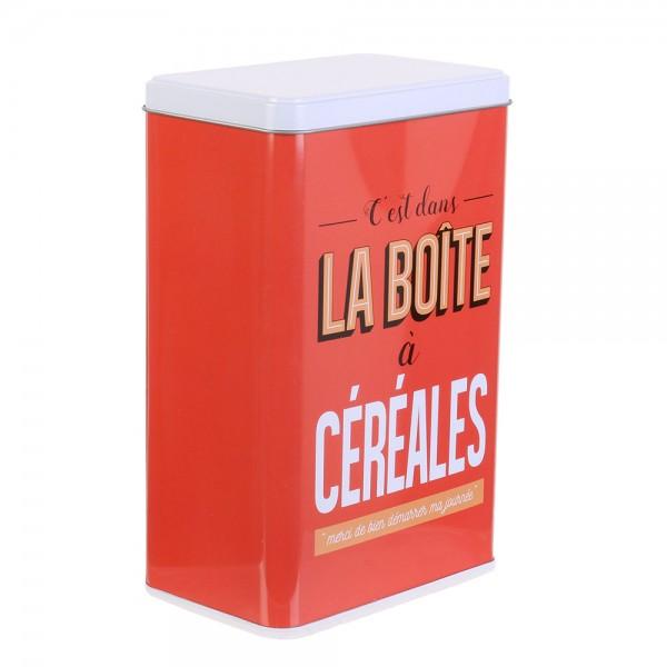 La Boite A Metal Cereal Storage Box (Color: Red, 24.1x9.3cm) 526413-V001 by La boite a metal