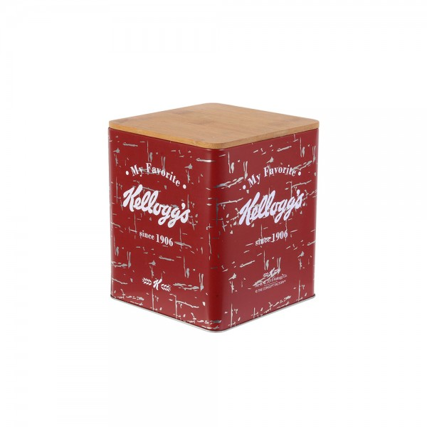 La Boite A Metal Tin with Wooden Lid (Color: Mixed, 17.1x14.2cm) 526416-V001 by Kellogg's