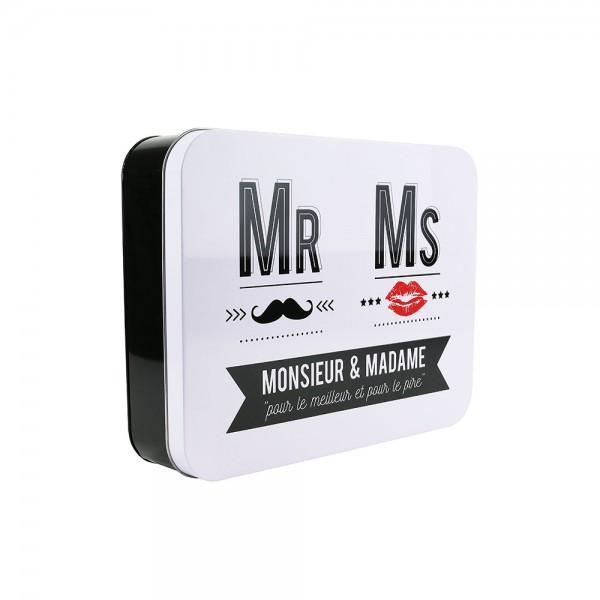 La Boite A Metal Container Mr and Ms (Color: Black and White, 31.5x24.3cm) 526422-V001 by La boite a metal