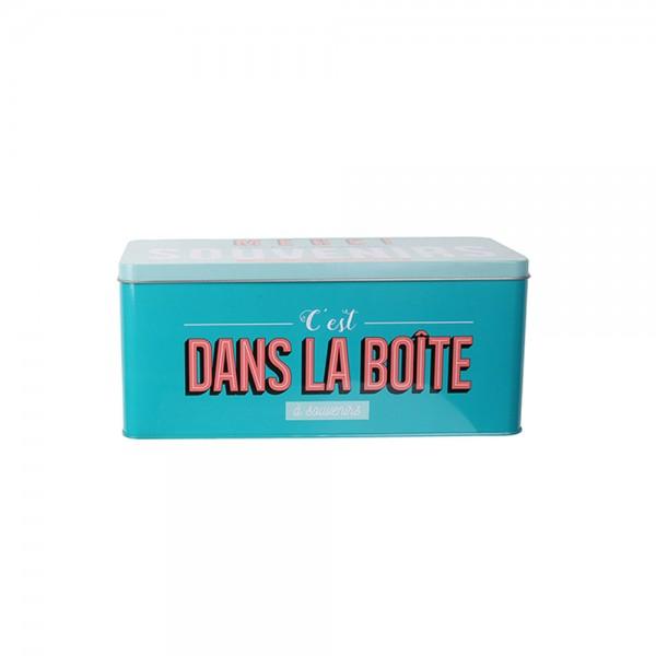 La Boite A Metal My Memory Box (Color: Turquoise, 27.4x12.3cm) 526430-V001 by La boite a metal