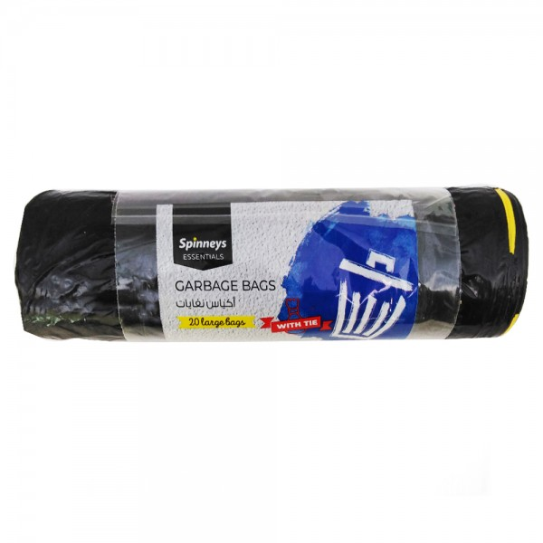 Spinneys Large Garbage Bags 20pc 526442-V001 by Spinneys Essentials