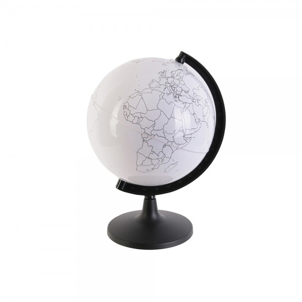 Jeux2Momes Rotating Globe To Customize With Felt Tip Pens Wht - 7Pc 526461-V001 by 2 Jeux Momes