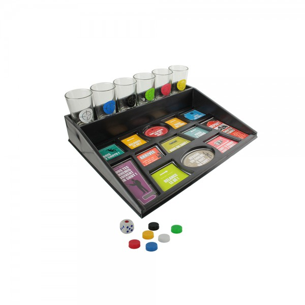 BOARD GAME GLASS DRINKING GAME MULTICOLOR 526515-V001 by Mister Gadget