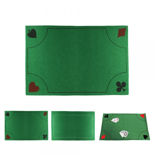 Card Playing Mat Green And Black 526516-V001 by Mister Gadget