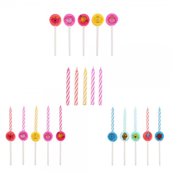 Mons.Madam Birthday Candle Mixed Color - 5Pc 526532-V001 by Monsieur Madame