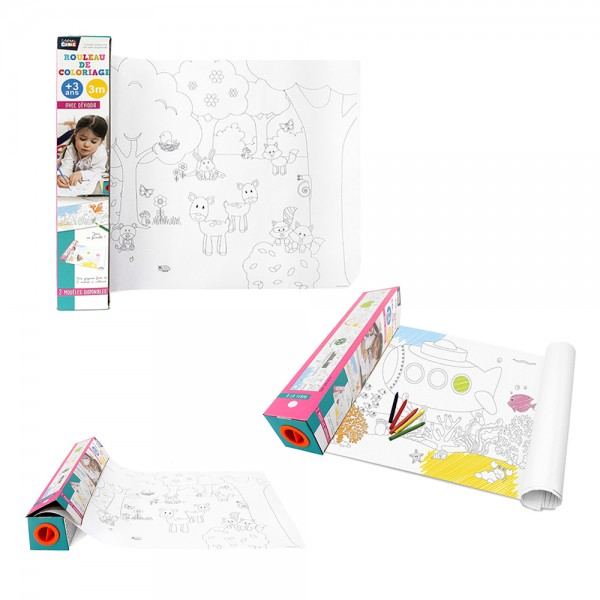 Jeux2Momes Coloring Roll 3M With Dispenser+5 Pencils - 7PcJeux2Momes Coloring Roll 3M With Dispenser+5 Pencils - 7Pc 526543-V001 by 2 Jeux Momes
