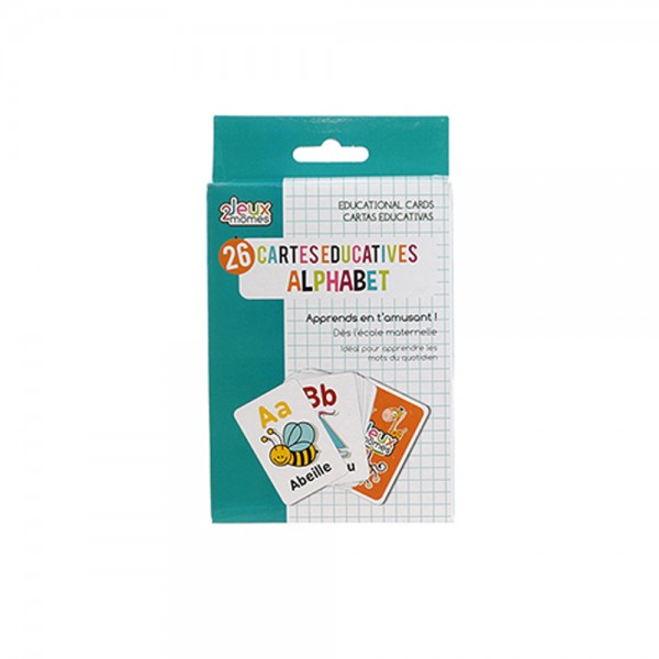 The Illustrated Alphabet Educational Cards 526550-V001 by 2 Jeux Momes