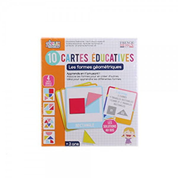 Educational card I learn shapes 526560-V001 by 2 Jeux Momes