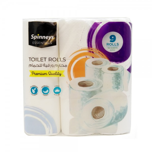 TOILET ROLL 150S 2PLY 11.2X9.7CM 526581-V001 by Spinneys Essentials