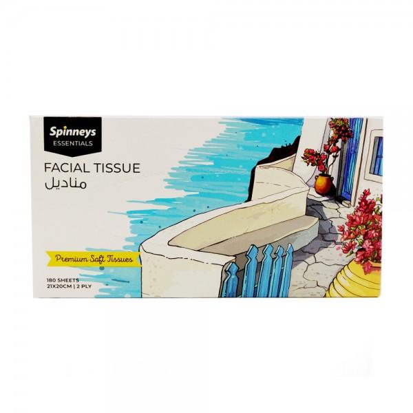 FACIAL TISSUE BOX 2PLY 21X20CM 526586-V001 by Spinneys Essentials