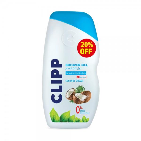 SHOWER GEL COCONUT SPLASH 20PCUT 526613-V002 by Clipp