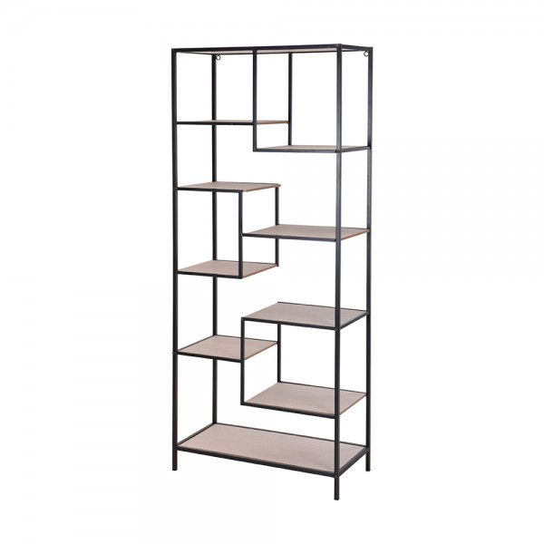 Metal Shelf Rack with MDF 1 Piece 526823-V001 by EH Excellent Houseware