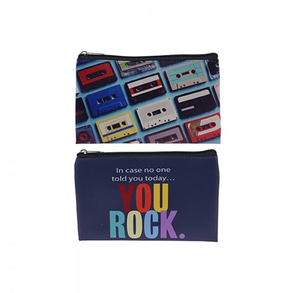 EH PU Tape Pencil Case 2 Mix Print 1 Piece 526834-V001 by EH Excellent Houseware