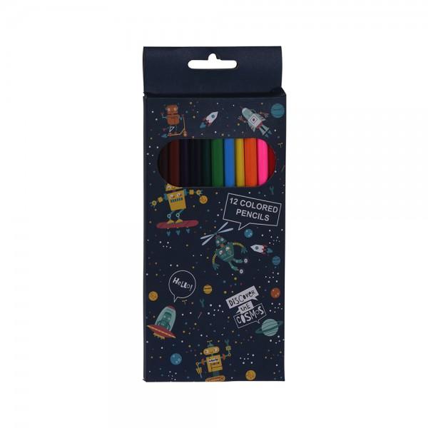 EH, Robot Color Pencils Set, 12PCS 526838-V001 by EH Excellent Houseware