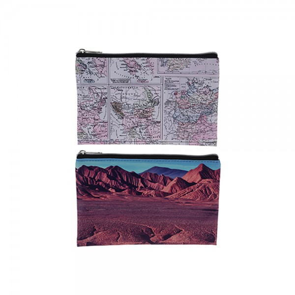 EH, Mix PU World Map Pencil Case, 1PC 526840-V001 by EH Excellent Houseware