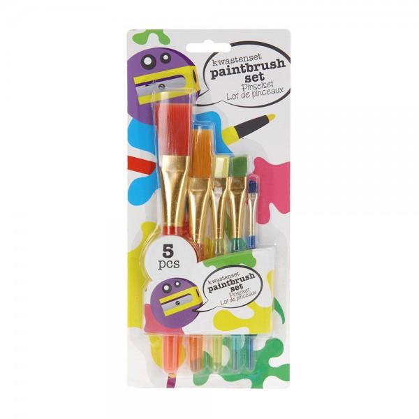 EH, PP Transparent Colored Brush, 5PCS 526870-V001 by EH Excellent Houseware