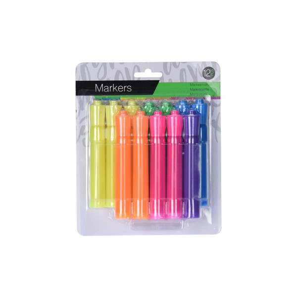 EH, Colored Highlighters Set, 12PCS 526921-V001 by EH Excellent Houseware