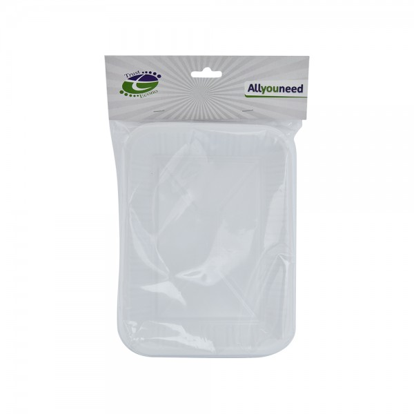 Trust Econ Rectangular Plastic Plate P2 526968-V001 by Trust Econo