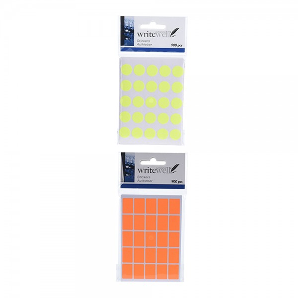 WRITEWELL Neon Stickers Mix Color 1pcs 527003-V001 by Writewell
