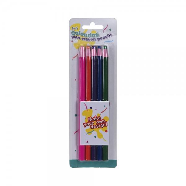 EH Wax coloured pencil set 5pcs 527006-V001 by EH Excellent Houseware