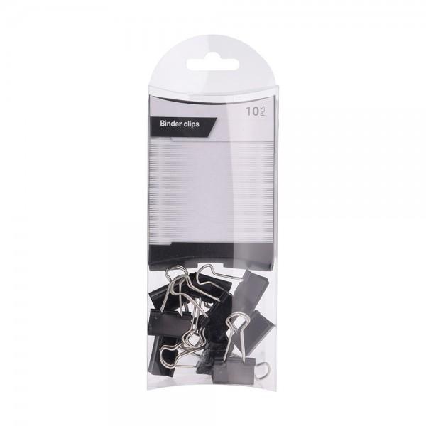BINDER CLIPS BLACK  MIX SET 527094-V001 by EH Excellent Houseware