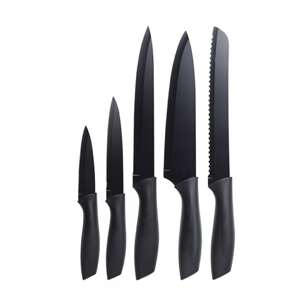 Eh  Knife Set Black - 5Pc 527120-V001 by EH Excellent Houseware