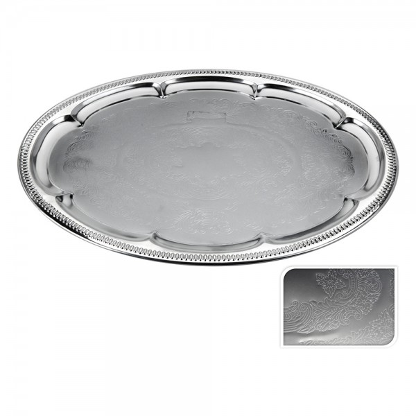 Eh Metal Oval Tray - 46X34Cm 527161-V001 by EH Excellent Houseware