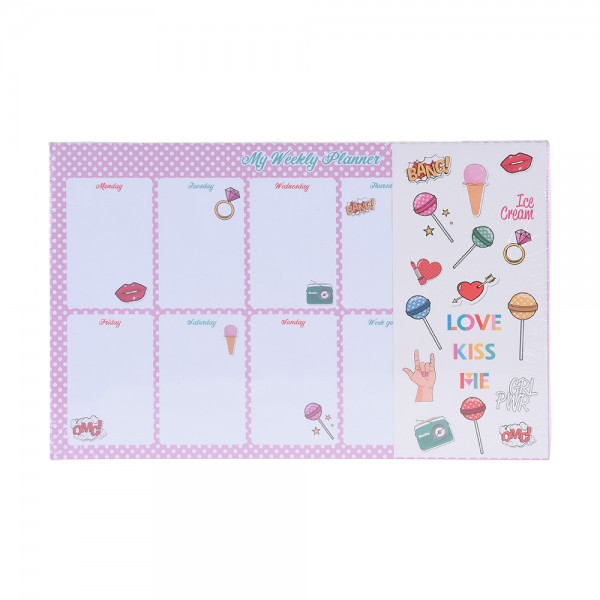 EH Week Planner with Stickers 527195-V001 by EH Excellent Houseware