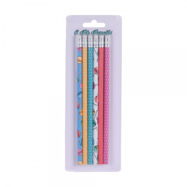 Pencil with Eraser Set 6 pieces 527197-V001 by EH Excellent Houseware