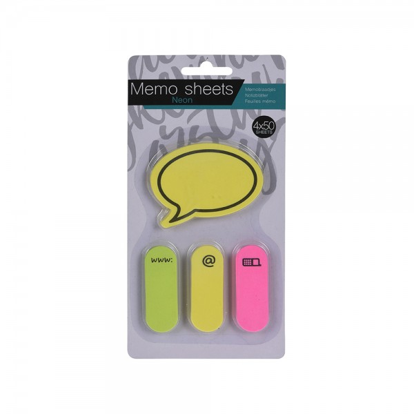 EH Sticky Notes Set 50SH 4PC 527205-V001 by EH Excellent Houseware