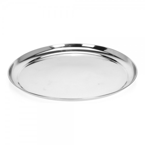 Eh Stainless Steel Round Tray - 1Pc 527238-V001 by EH Excellent Houseware