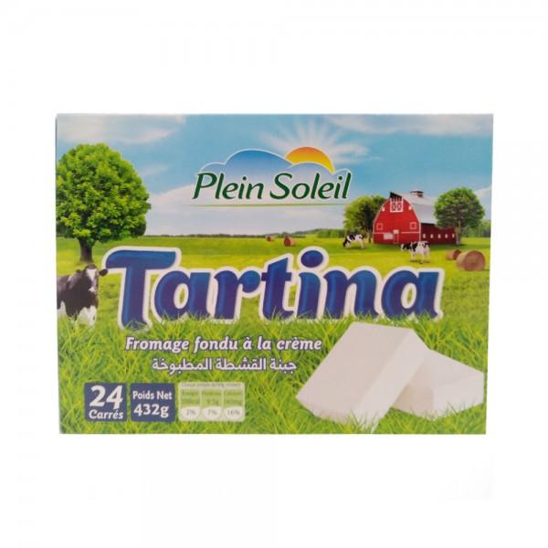 Plein Soleil Tartina Processed Cream Cheese ( 24 Squares) 432G 527430-V001