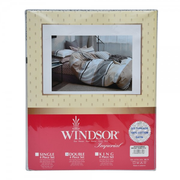 Windsor Bedset Satin Baroque Double - 4Pc 527556-V001 by Windsor Imperial