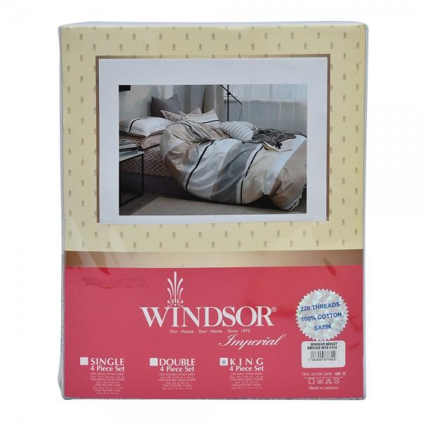 Windsor Bedset Satin Baroque King - 4Pc 527557-V001 by Windsor Imperial