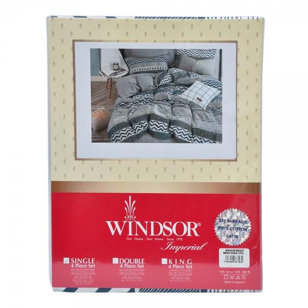Windsor Bedset Satin Waves Single - 4Pc 527570-V001 by Windsor Imperial