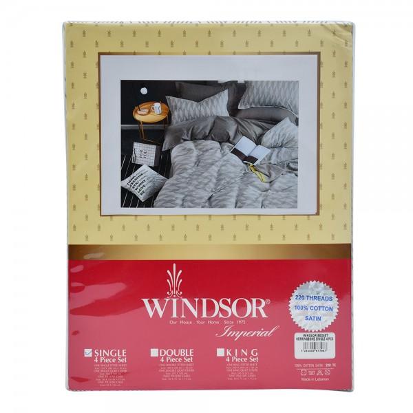 Windsor Bedspread Satin Herringbone Single - 4Pc 527575-V001 by Windsor Imperial