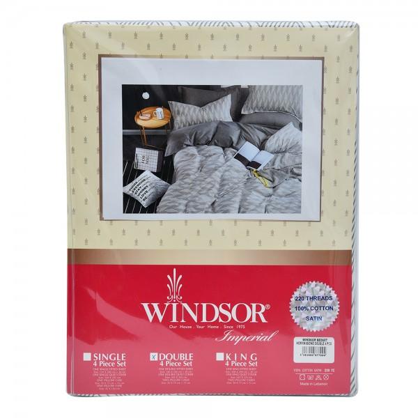 Windsor Bedspread Satin Herringbone Double - 4Pc 527576-V001 by Windsor Imperial