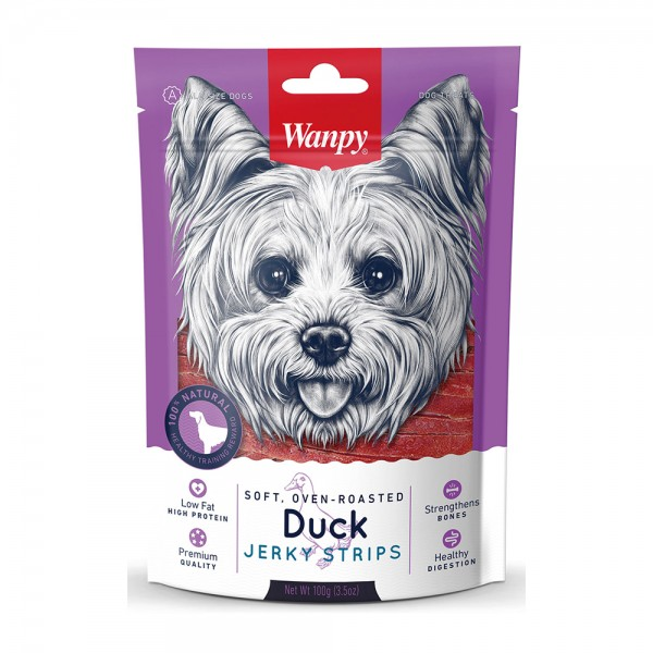 Wanpy Dog Duck Jerky Strips 527647-V001 by Wanpy