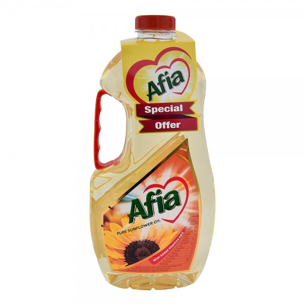 Afia Sunflower Oil -10% 1.5L 528071-V004 by Afia