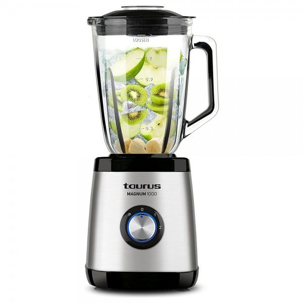 Taurus Blender Glass Jar 2Spd+Turbo - 1000W 528489-V001 by Taurus