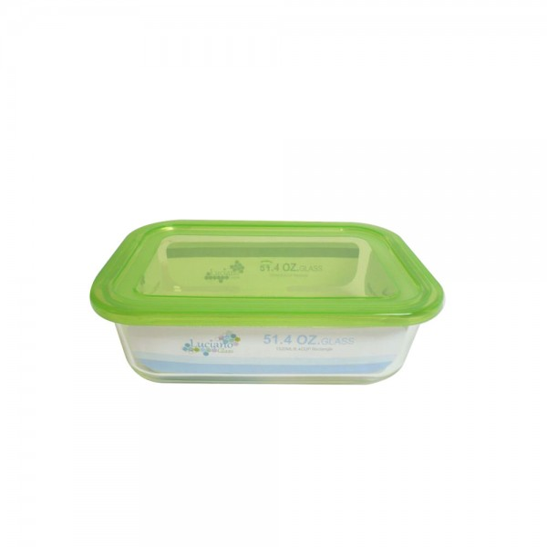 HGH BOROSILICATE RCT GLS FOOD CONTNER W SIMPLE LID 528754-V001 by Luciano Glass
