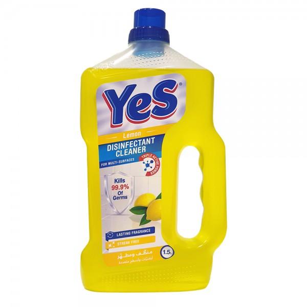 Yes Floor Cleaner Disinfectant Lemon - 1.5L 528791-V001 by Yes