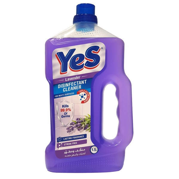 Yes Floor Cleaner Disinfectant Lavender - 1.5L 528792-V001 by Yes