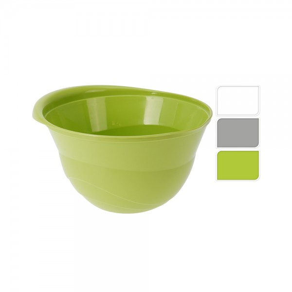 MIXING BOWL PLASTIC MIXED COLOR 528912-V001 by EH Excellent Houseware