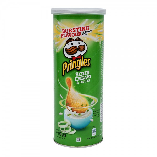Pringles, Sour Cream and Onion Chips, 130G 528943-V001 by Pringles