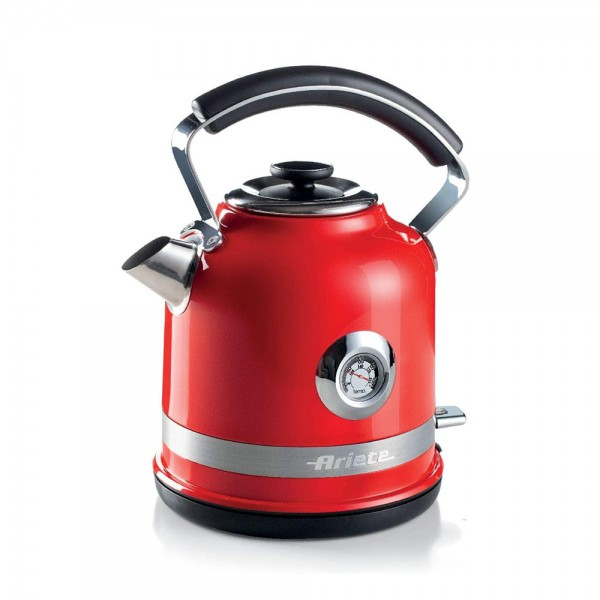 Ariete Moderna Kettle With Water Temp Red 529030-V001 by Ariete